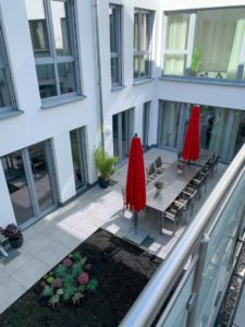Innenhof der Senioren-WG am Südertor.